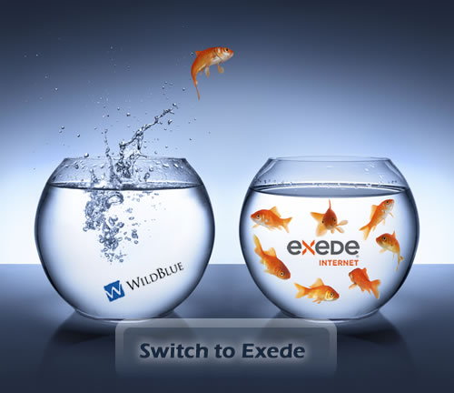 Fish jumping from WildBlue to Exede